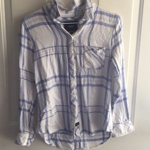 Rails blue and white flannel